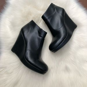 Jessica Simpson Black Wedge Ankle Booties